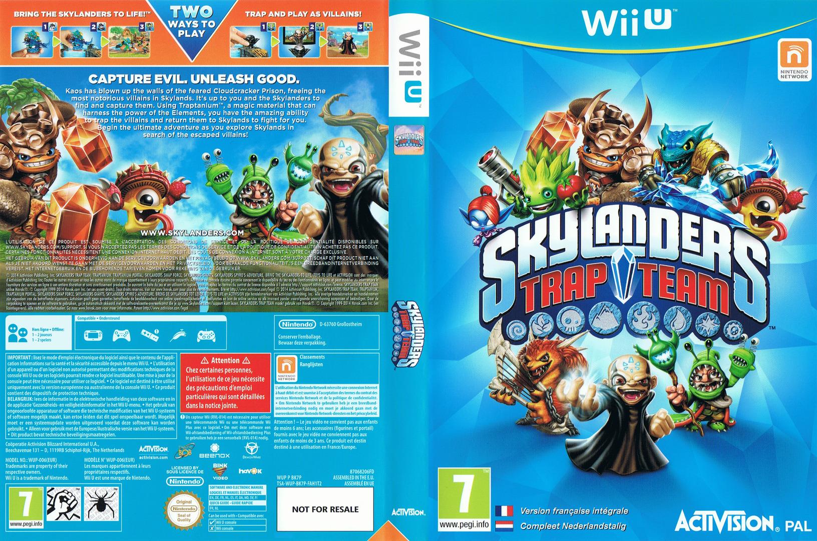 Skylanders: Trap Team WiiU coverfullHQ (BK7P52)
