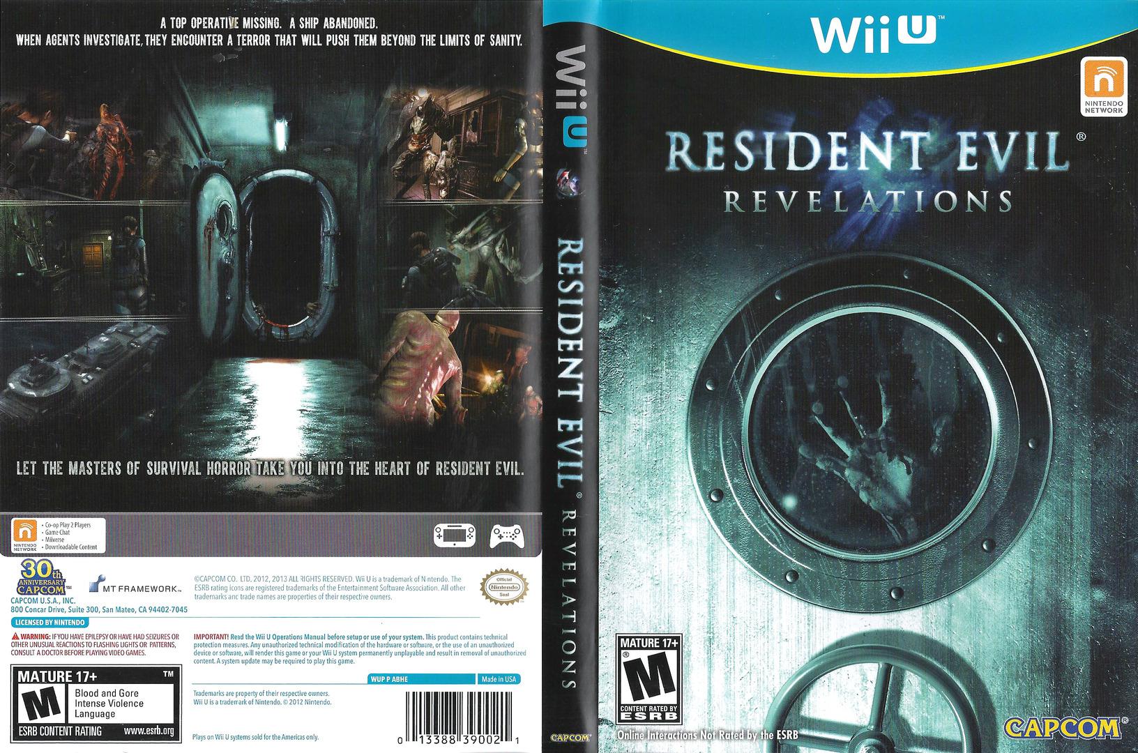 Resident Evil: Revelations WiiU coverfullHQ (ABHE08)