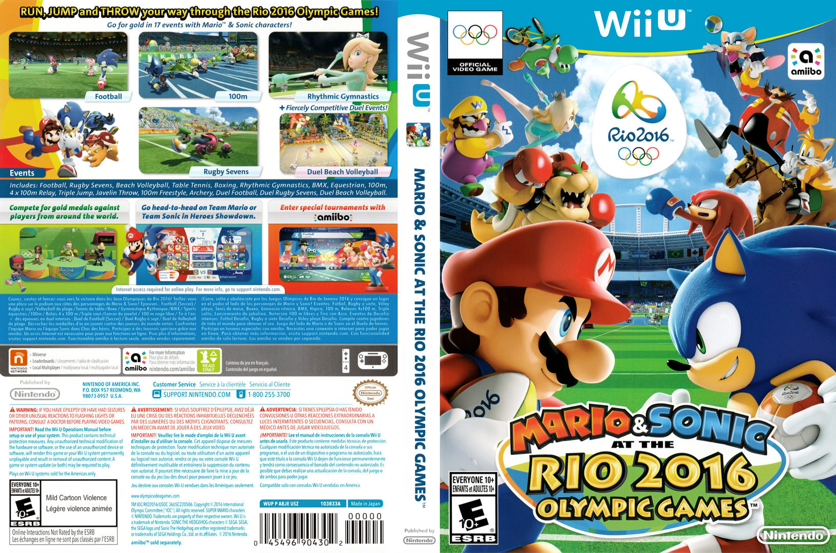 Mario & Sonic at the Rio 2016 Olympic Games WiiU coverfullHQ (ABJE01)