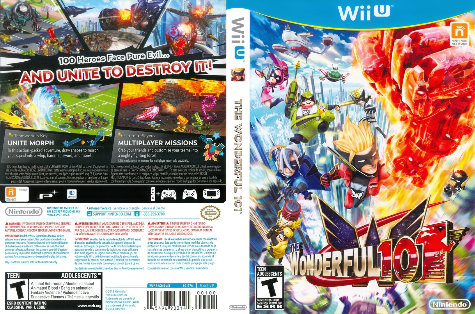 The Wonderful 101 WiiU coverfullHQ (ACME01)