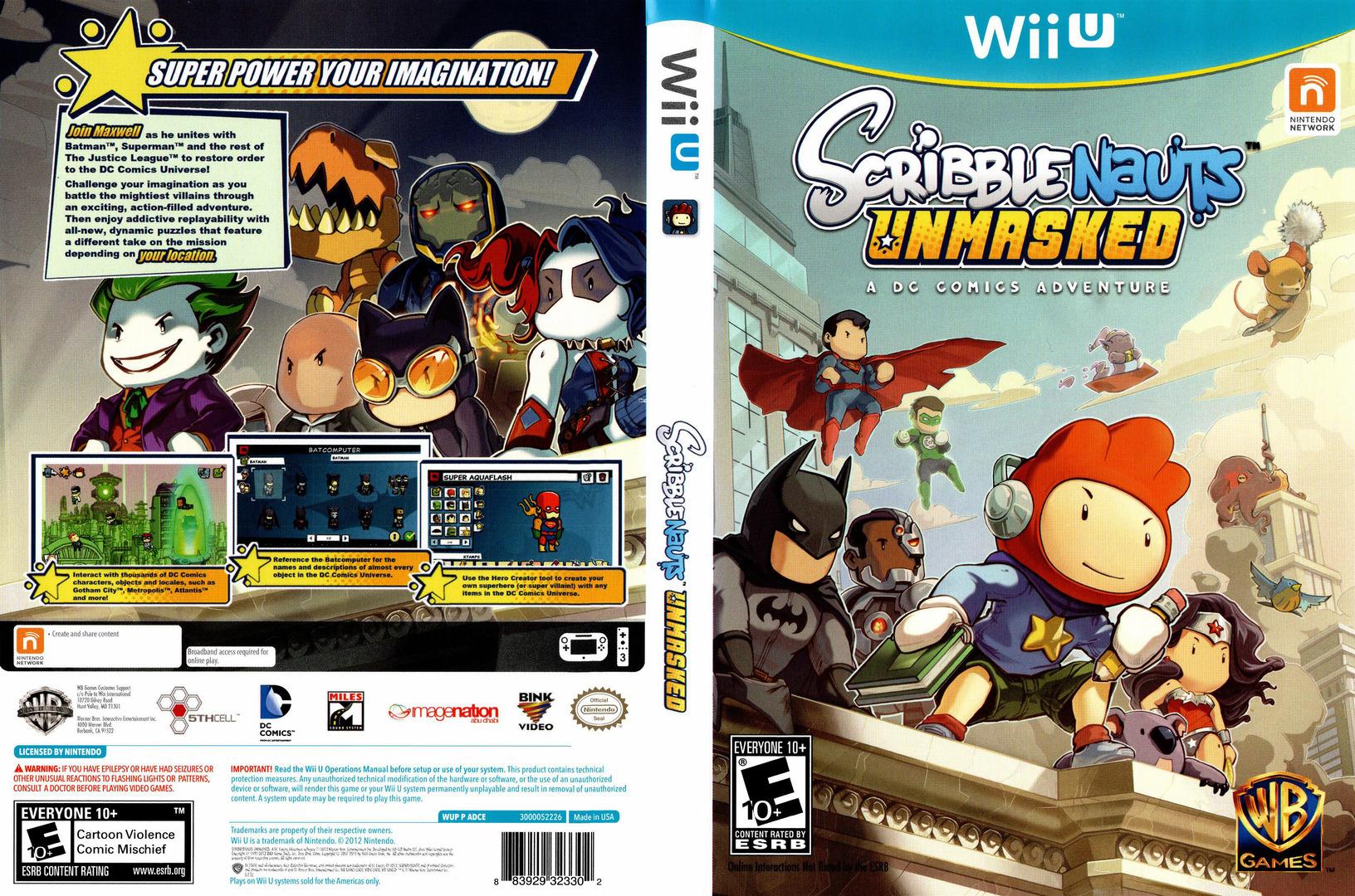 Scribblenauts Unmasked:a DC Comics Adventure WiiU coverfullHQ (ADCEWR)