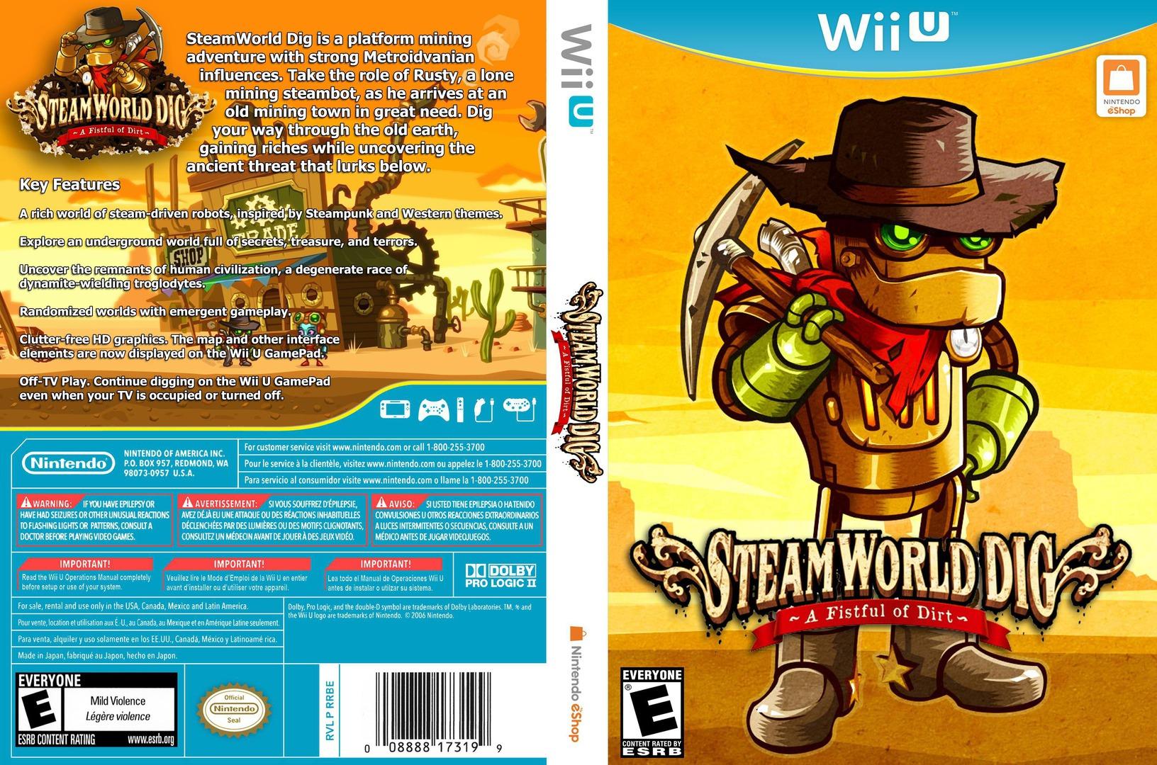SteamWorld Dig WiiU coverfullHQ (ADGE)