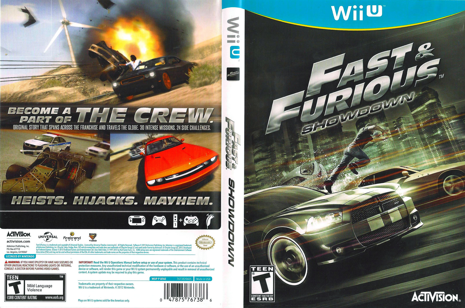 Fast and Furious: Showdown WiiU coverfullHQ (AF6E52)