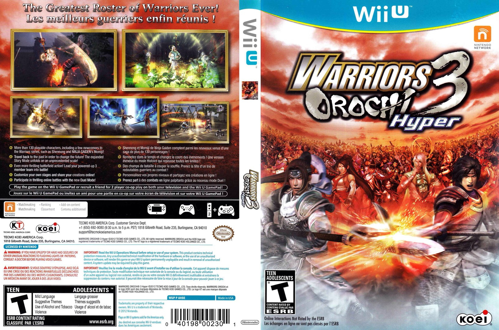 Warriors Orochi 3 Hyper WiiU coverfullHQ (AHBEC8)