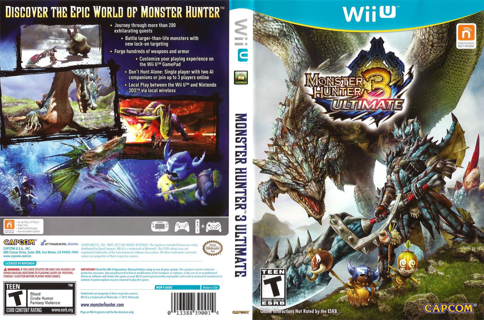 Monster Hunter 3 Ultimate WiiU coverfullHQ (AHDE08)