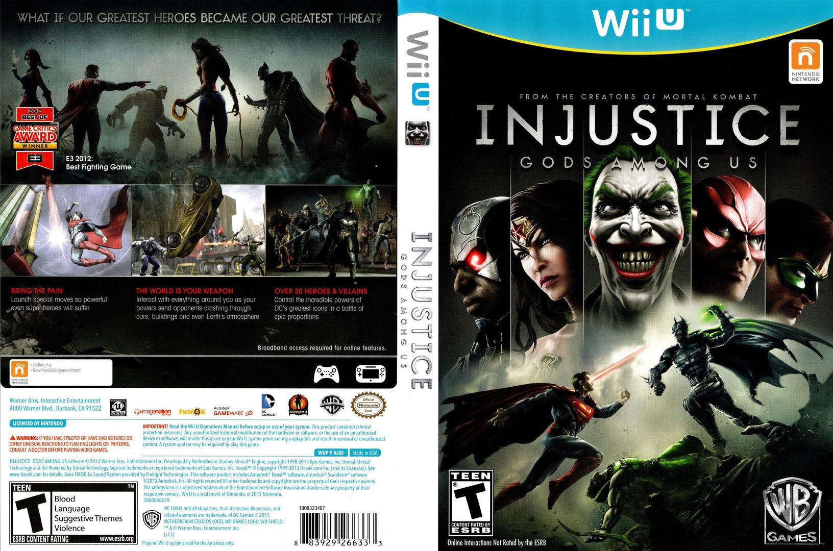 Injustice: Gods Among Us WiiU coverfullHQ (AJSEWR)