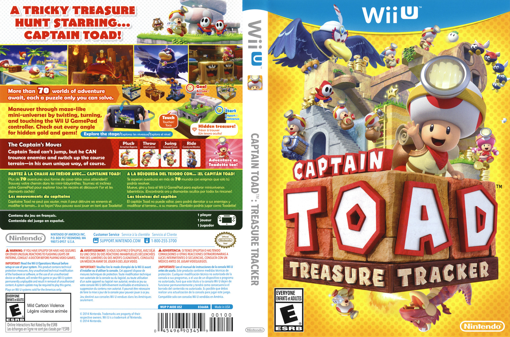 Captain Toad: Treasure Tracker WiiU coverfullHQ (AKBE01)