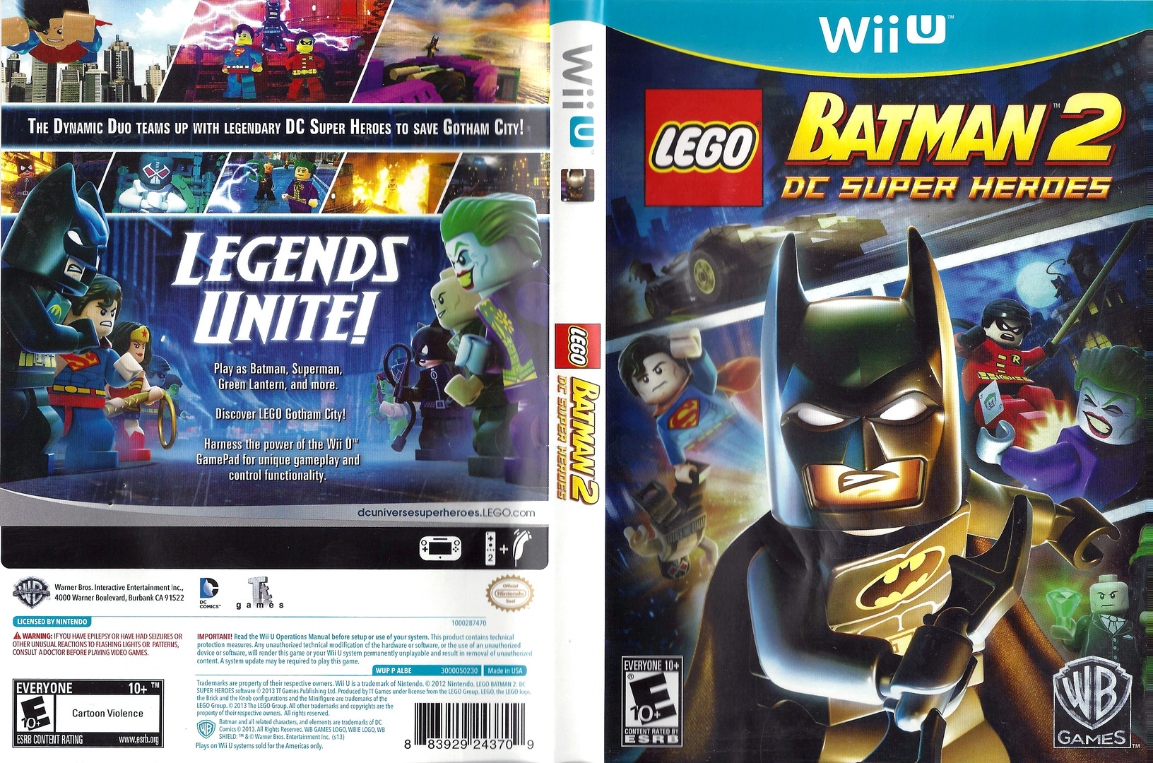 U With Wii Games 2 : Albewr lego batman dc super heroes