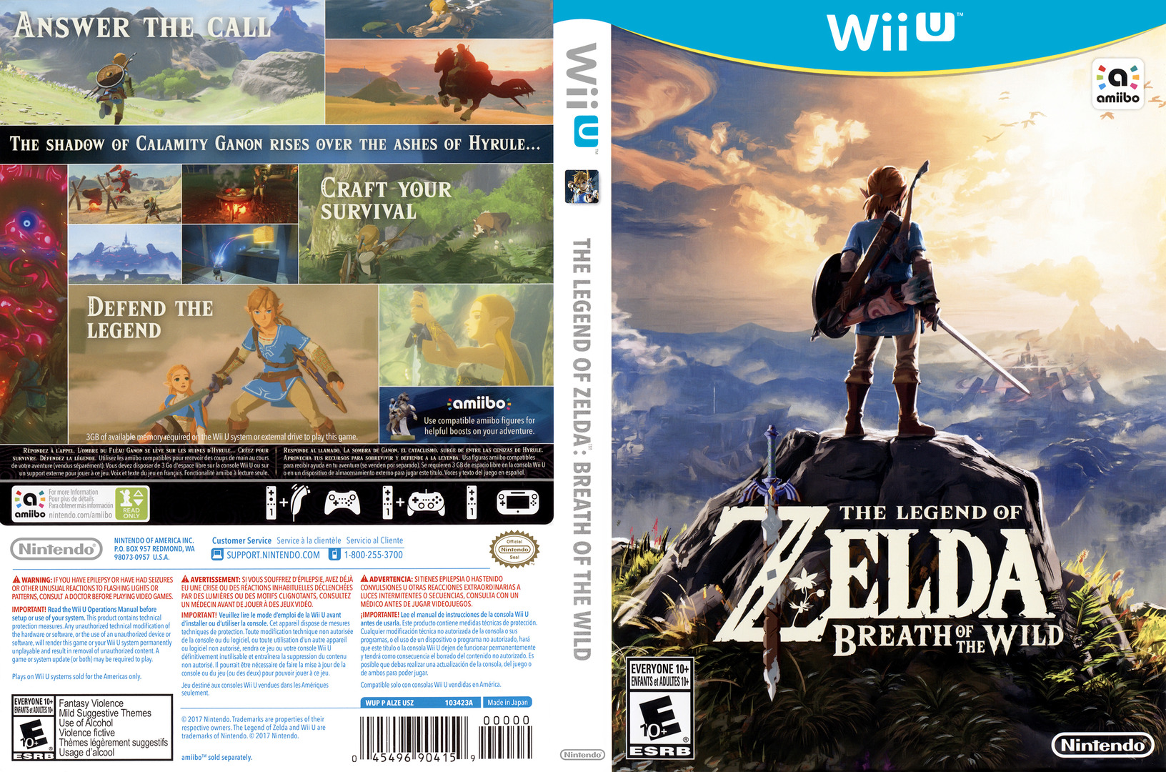 The Legend of Zelda: Breath of the Wild WiiU coverfullHQ (ALZE01)