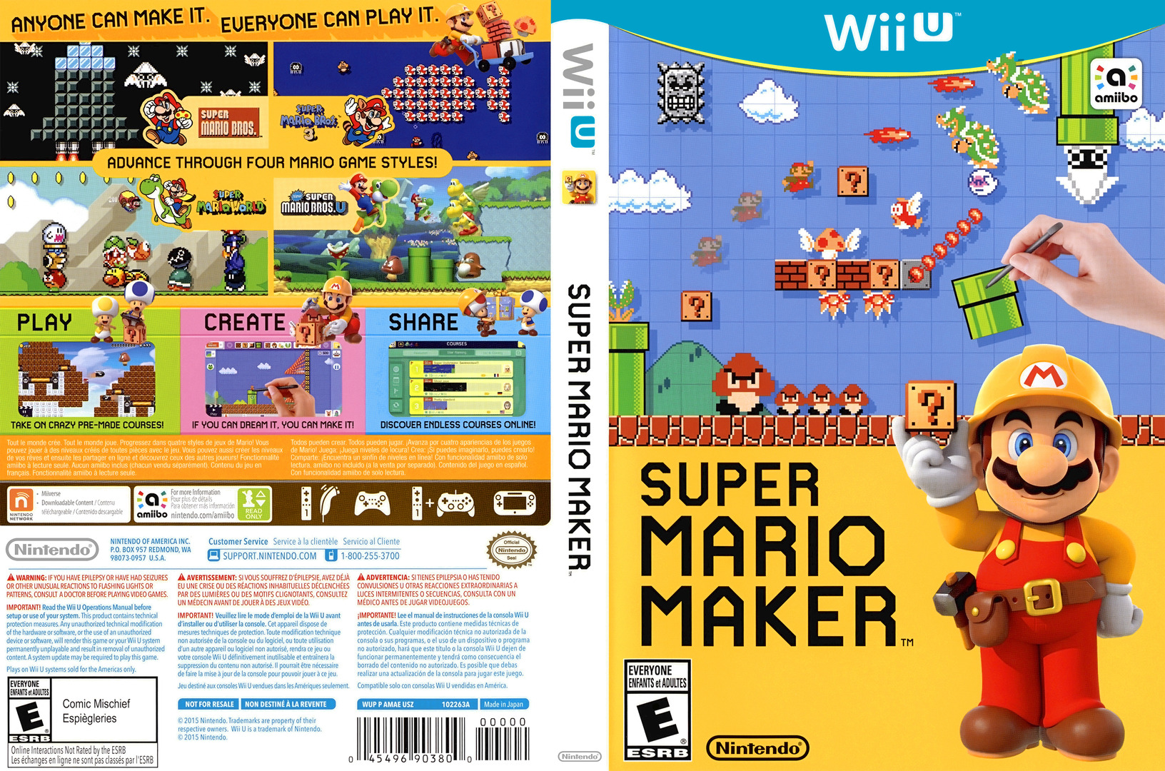 Super Mario Maker WiiU coverfullHQ (AMAE01)