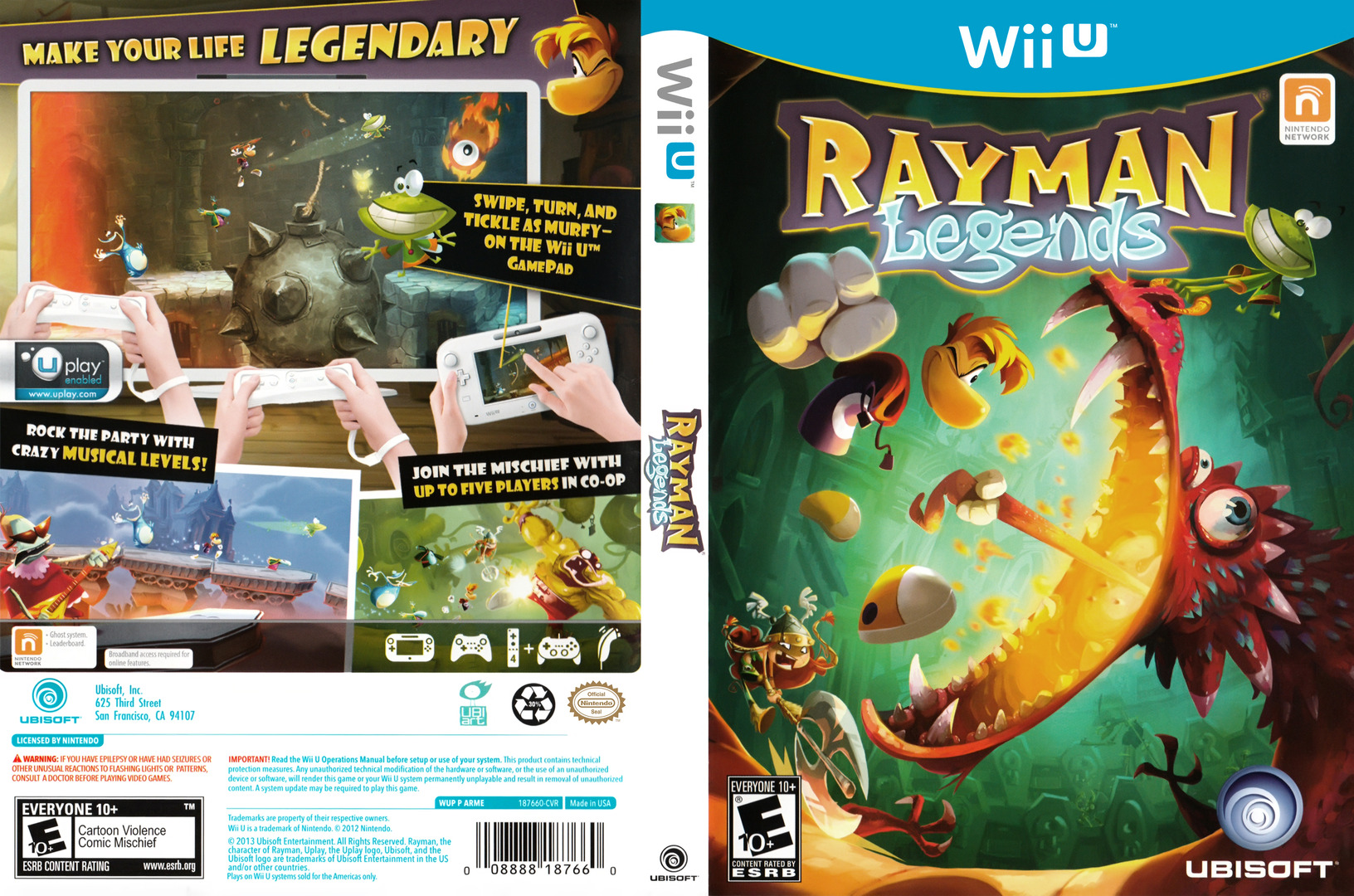 Rayman Legends WiiU coverfullHQ (ARME41)