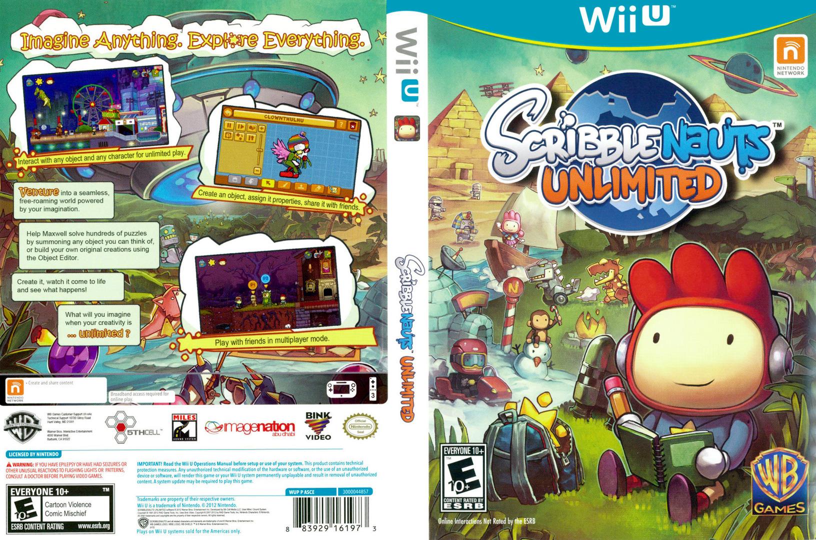Scribblenauts Unlimited WiiU coverfullHQ (ASCEWR)