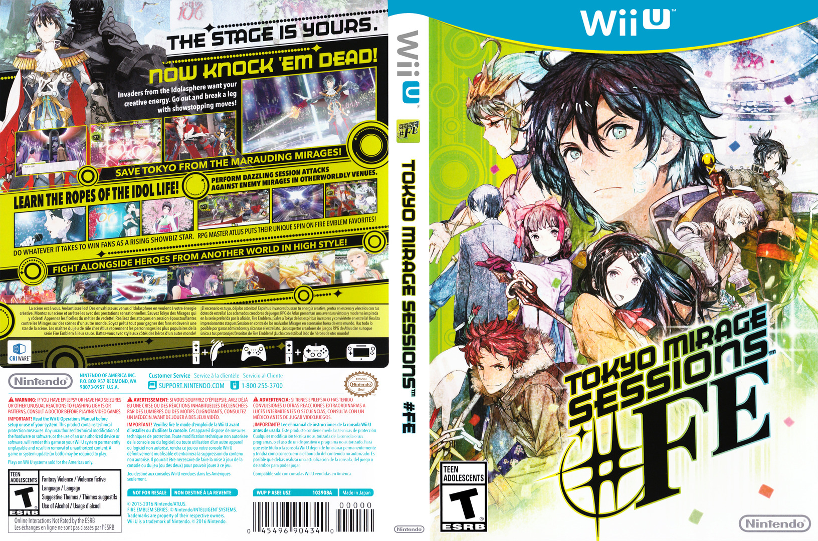 Tokyo Mirage Sessions #FE WiiU coverfullHQ (ASEE01)