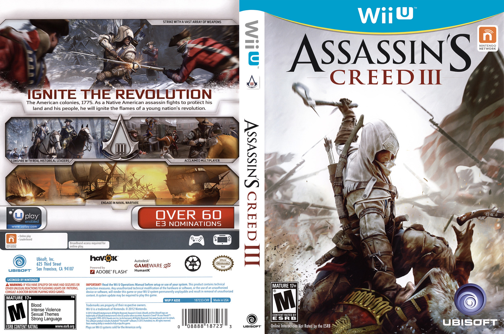 Assassin's Creed III WiiU coverfullHQ (ASSE41)
