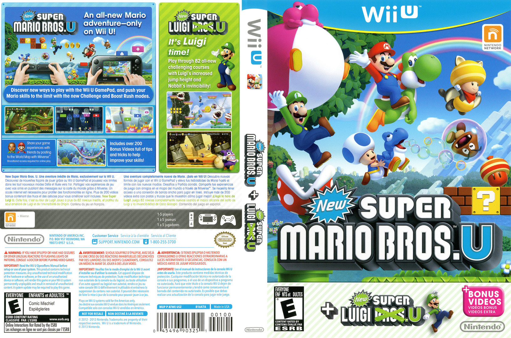 New Super Mario Bros. U + New Super Luigi U WiiU coverfullHQ (ATWE01)