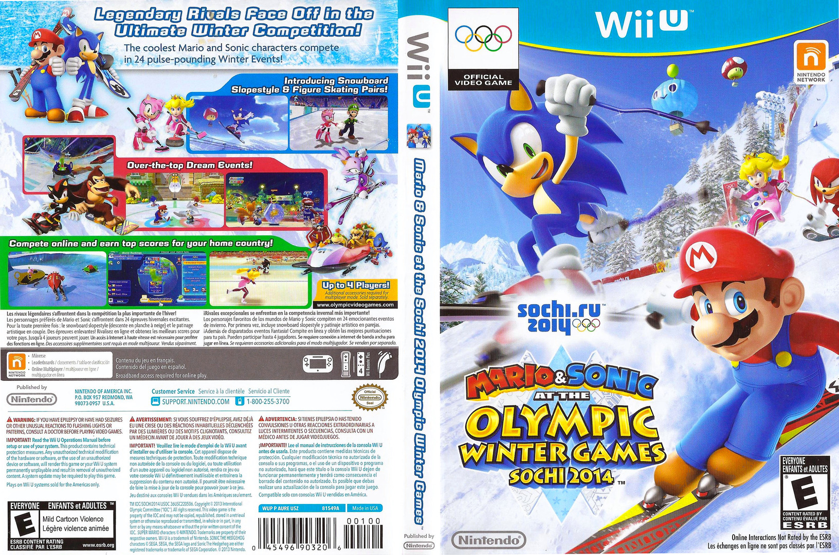 Mario & Sonic at the Sochi 2014 Olympic Winter Games WiiU coverfullHQ (AURE01)