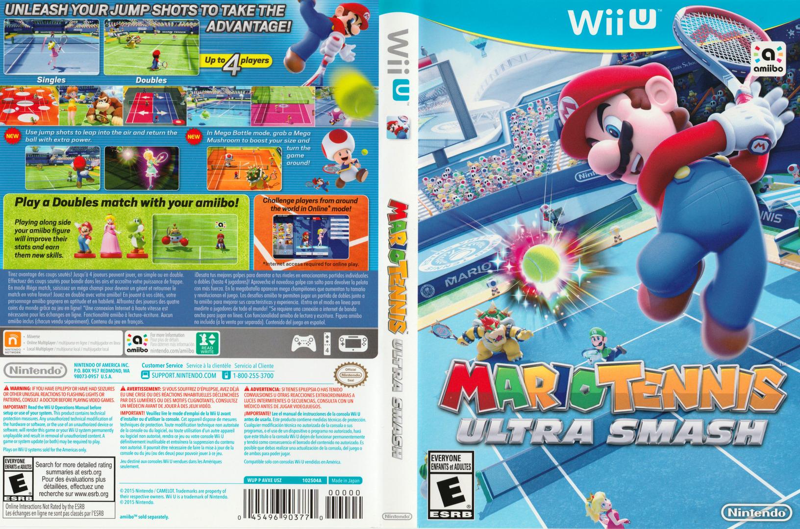 Mario Tennis: Ultra Smash WiiU coverfullHQ (AVXE01)