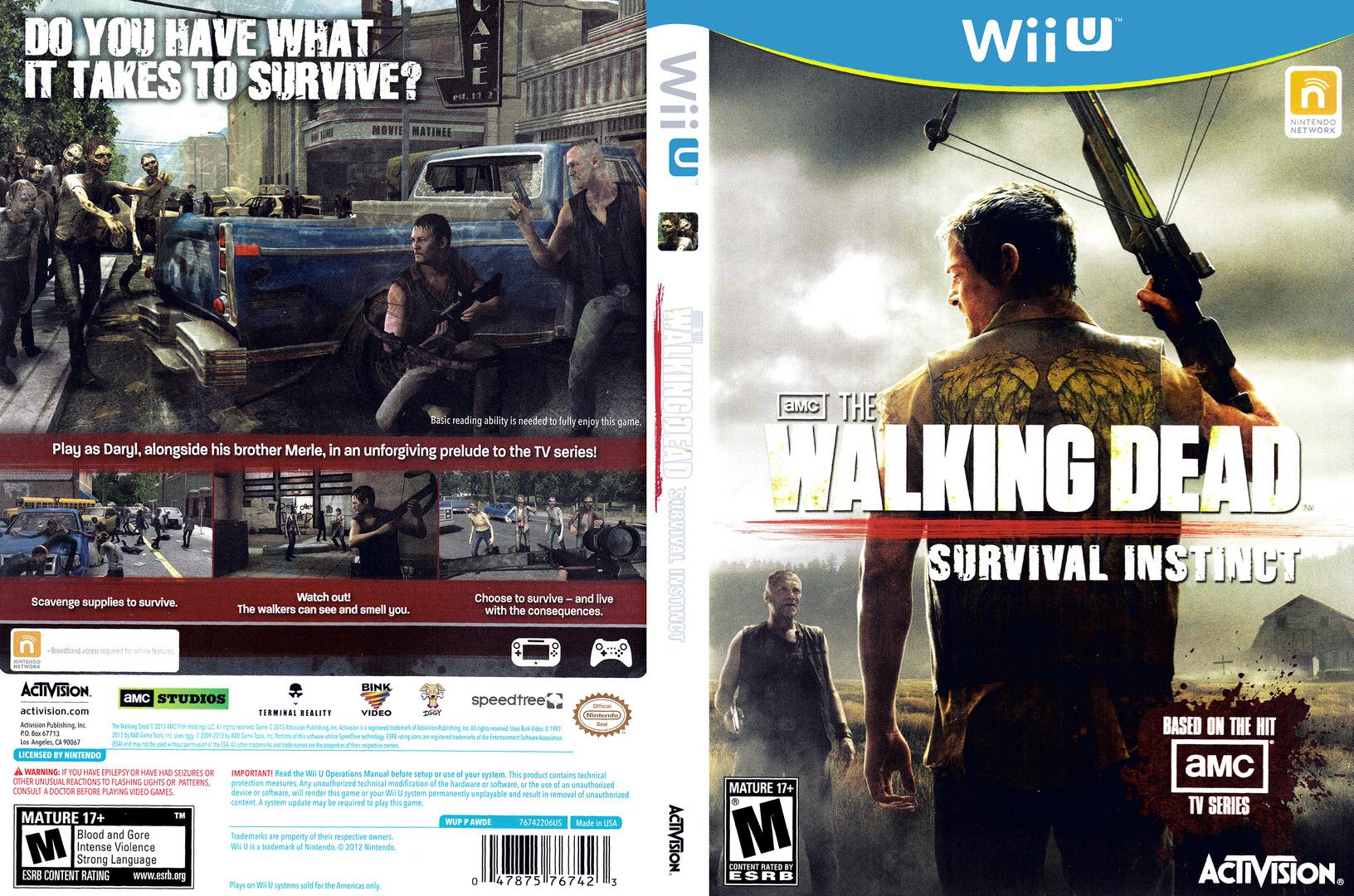 The Walking Dead: Survival Instinct WiiU coverfullHQ (AWDE52)