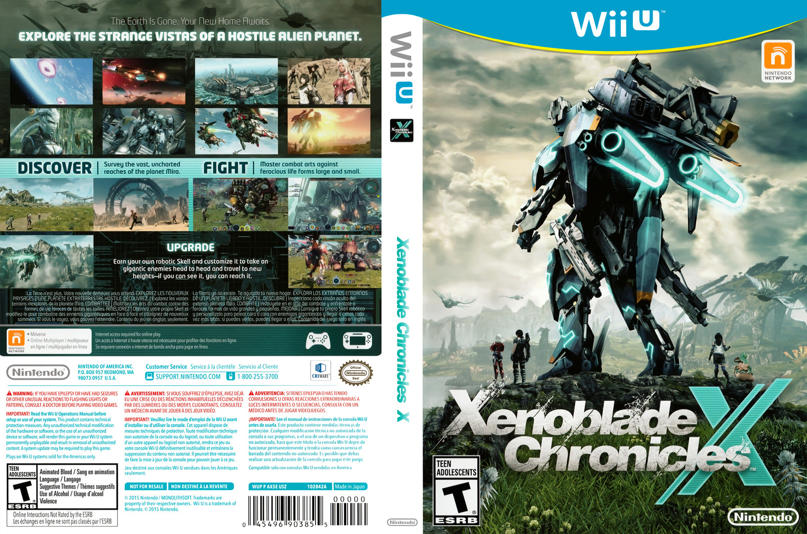 Xenoblade Chronicles X WiiU coverfullHQ (AX5E01)