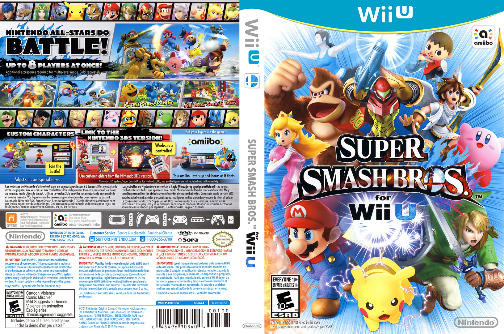 Super Smash Bros. for Wii U WiiU coverfullHQ (AXFE01)