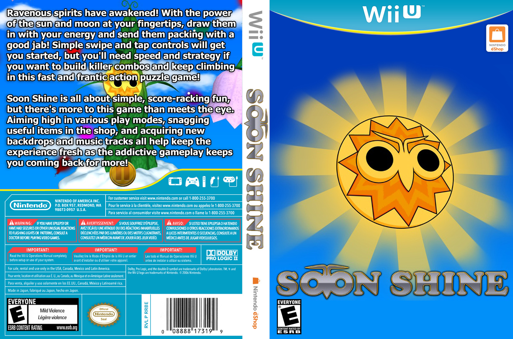 Soon Shine WiiU coverfullHQ (BSNE)