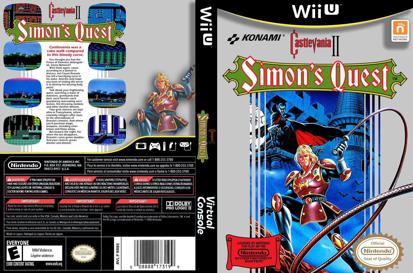 Castlevania II: Simon's Quest WiiU coverfullHQ (FB8E)