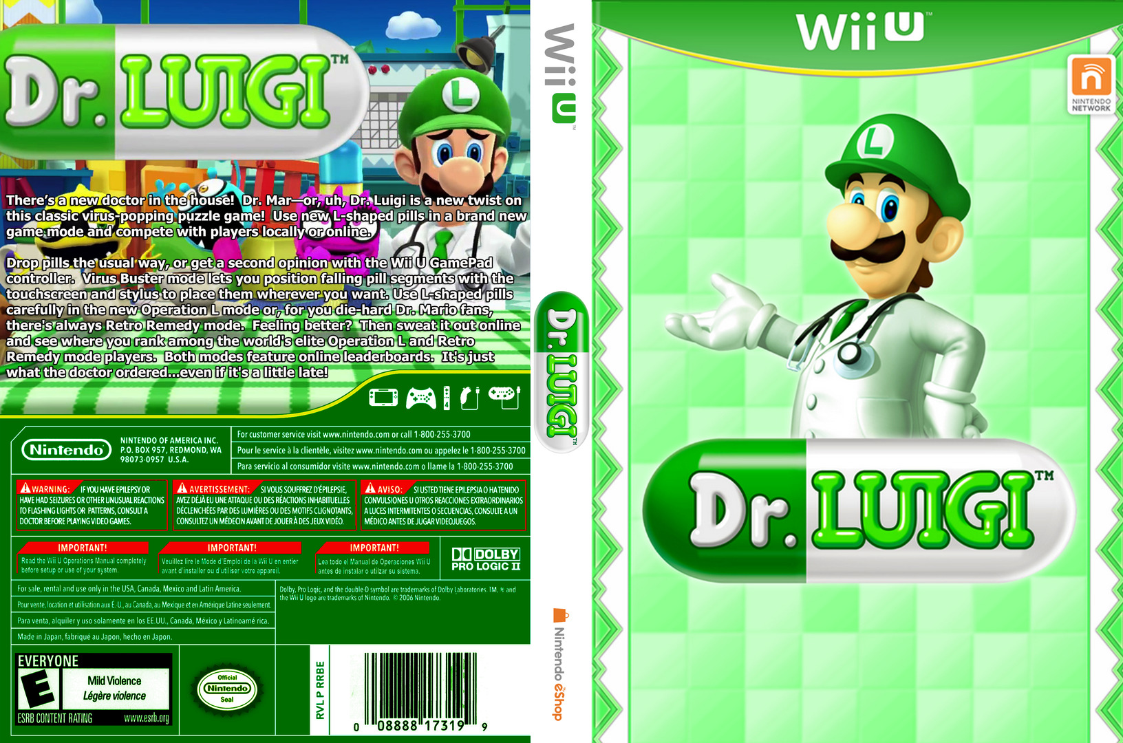 Dr. Luigi WiiU coverfullHQ (WAQE)