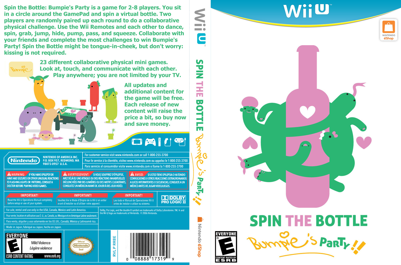 Spin the Bottle: Bumpie's Party WiiU coverfullHQ (WB6E)