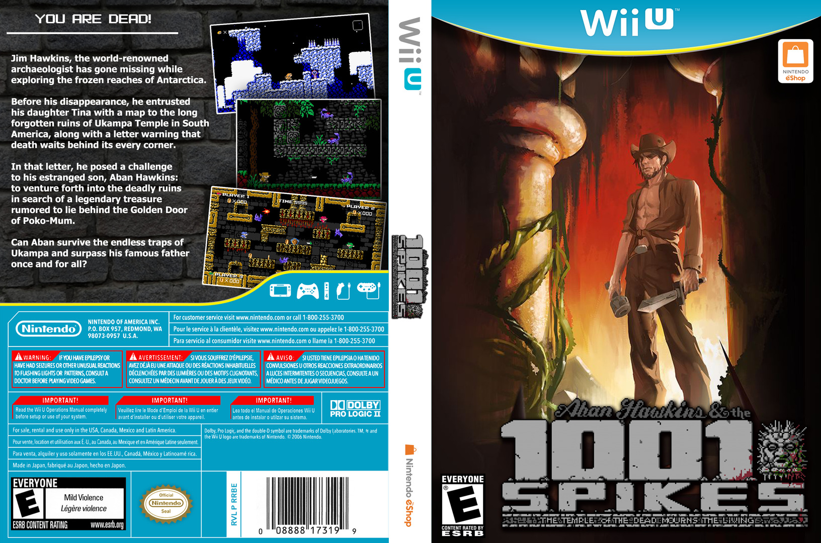 1001 Spikes WiiU coverfullHQ (WM9E)