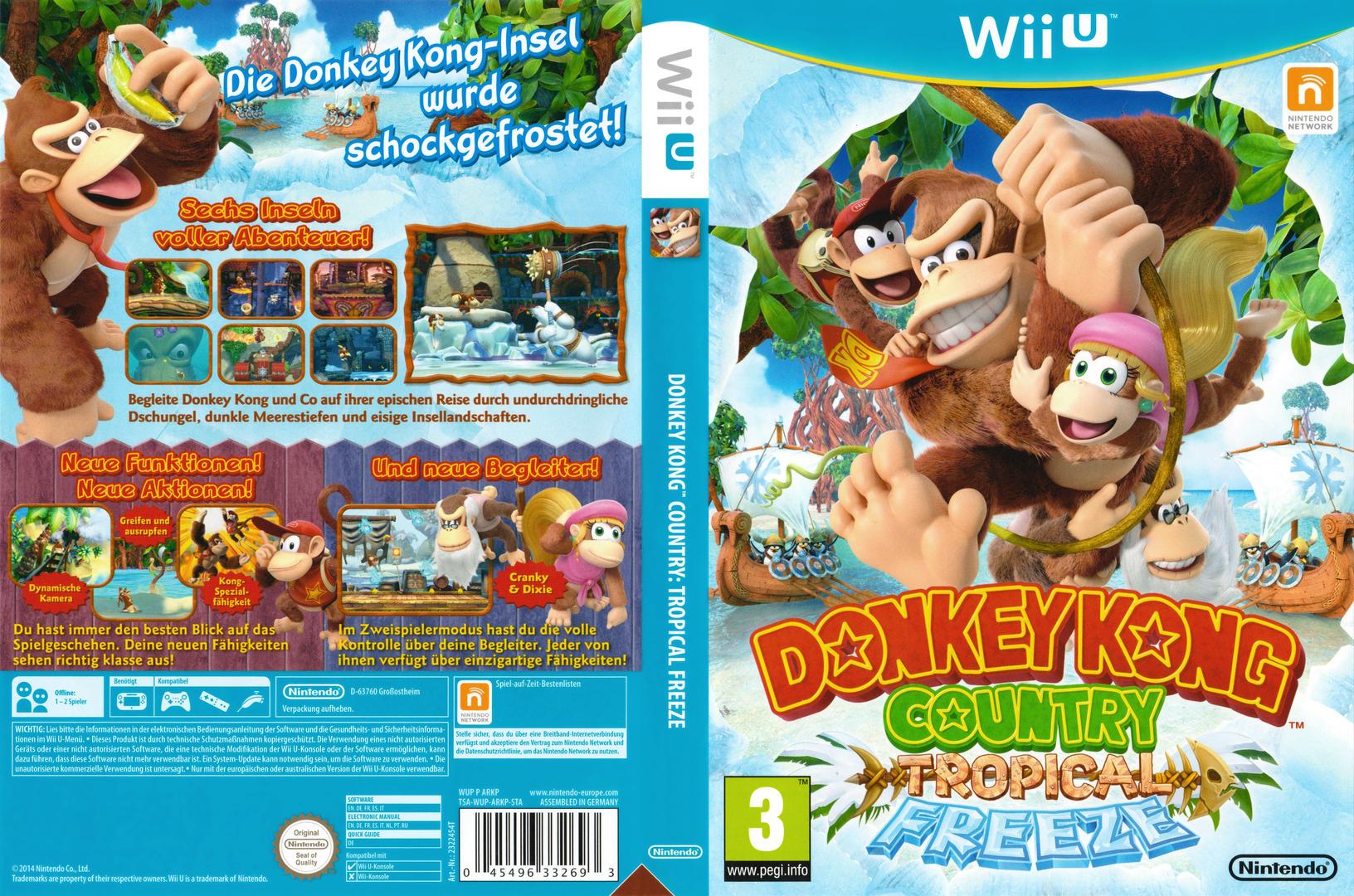 Donkey Kong Country: Tropical Freeze WiiU coverfullHQ2 (ARKP01)