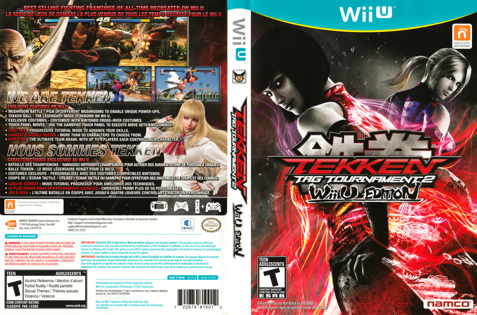 Tekken Tag Tournament 2 WiiU coverfullHQ2 (AKNEAF)