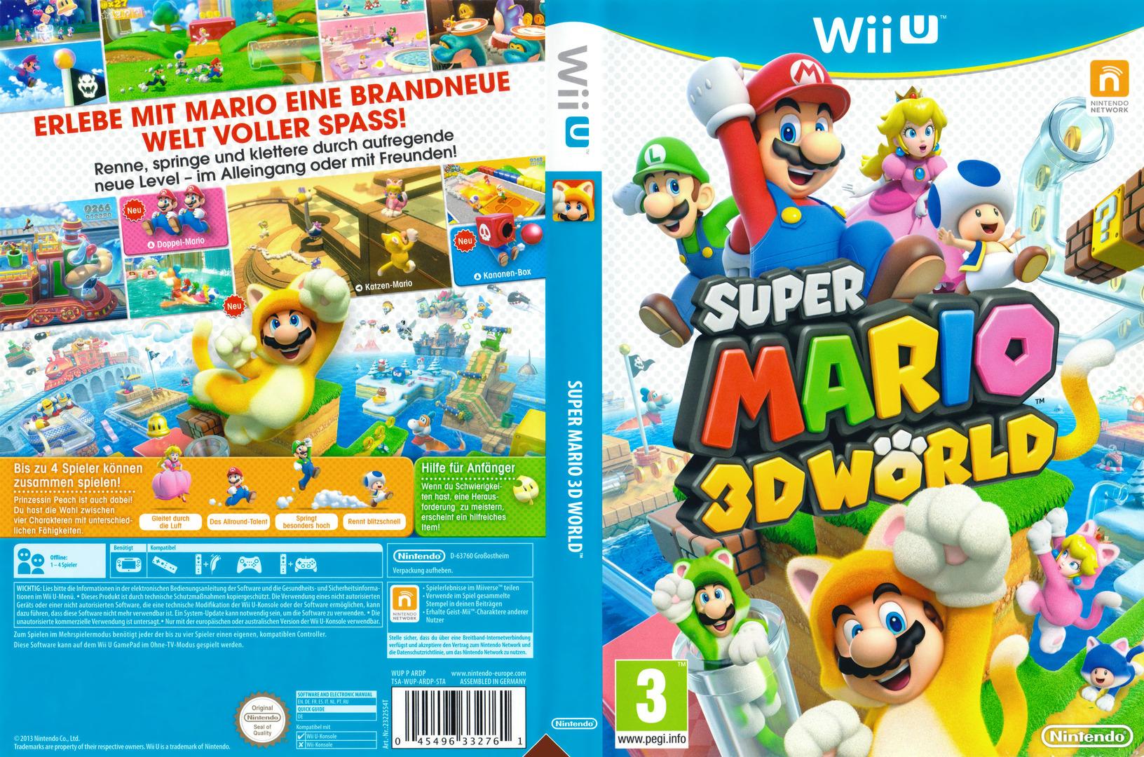 Super Mario 3D World WiiU coverfullHQB (ARDP01)