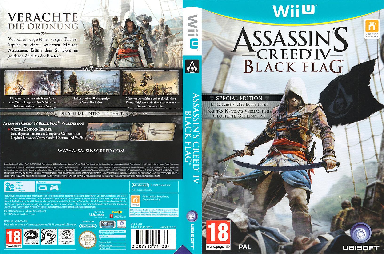 Assassin's Creed IV: Black Flag WiiU coverfullHQB (ASBP41)