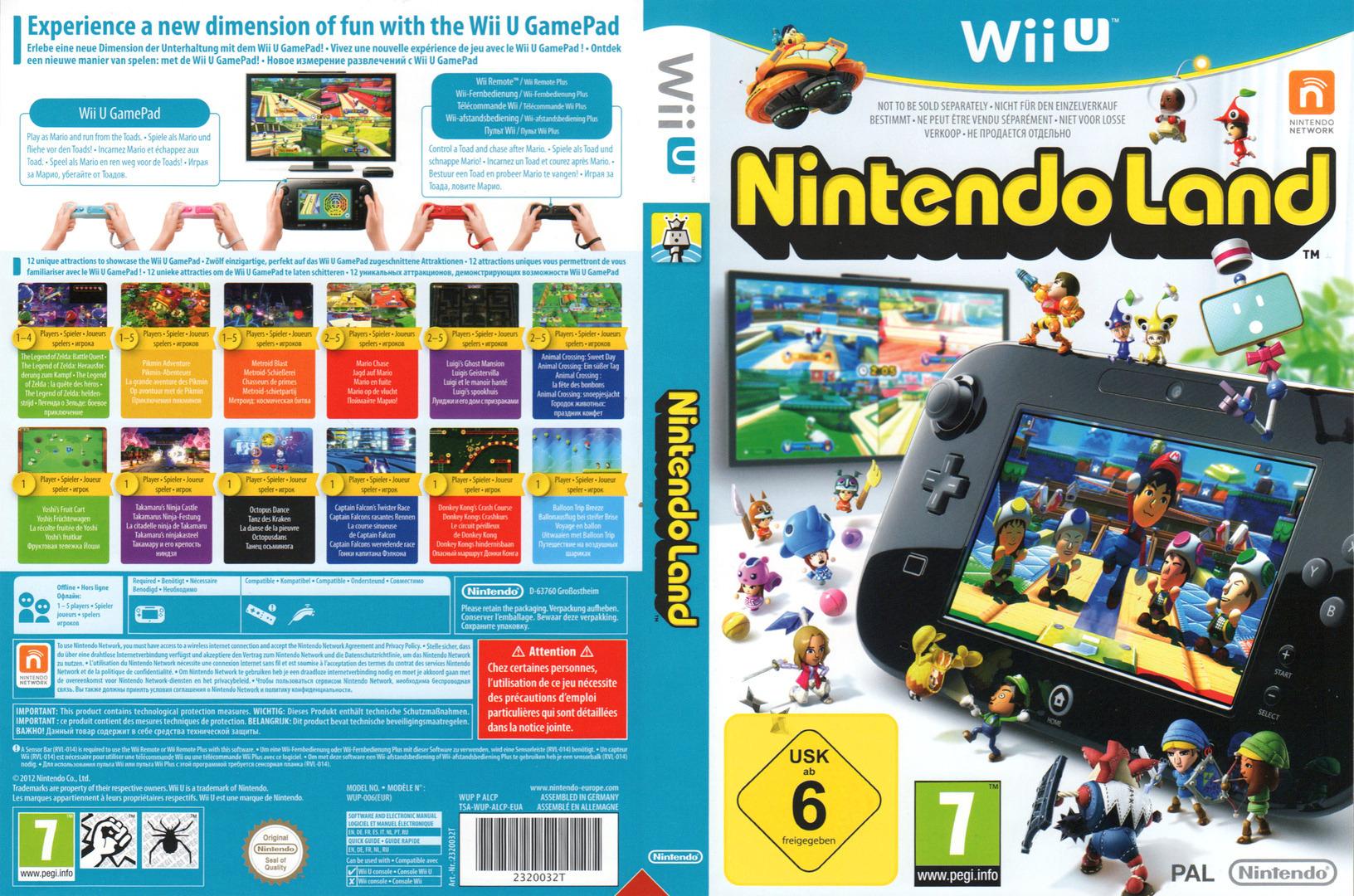 Nintendo Land WiiU coverfullHQB (ALCP01)