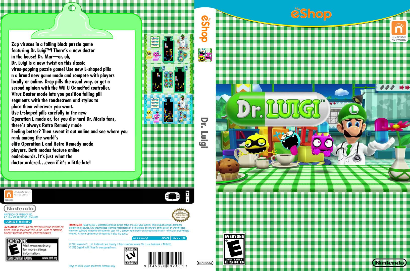 Dr. Luigi WiiU coverfullHQB2 (WAQE)