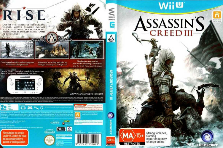 Assassin's Creed III WiiU coverfullM (ASSP41)