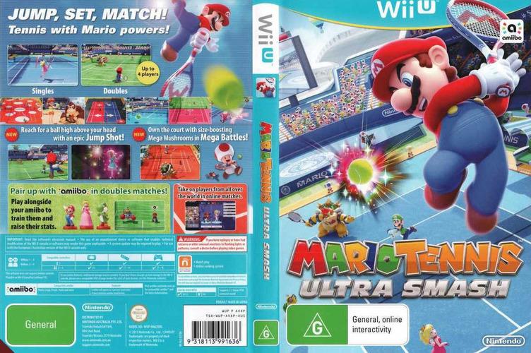 Mario Tennis: Ultra Smash WiiU coverfullM (AVXP01)