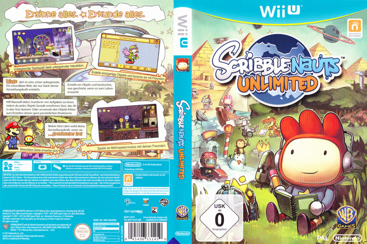 Scribblenauts Unlimited WiiU coverfullM (ASCP01)