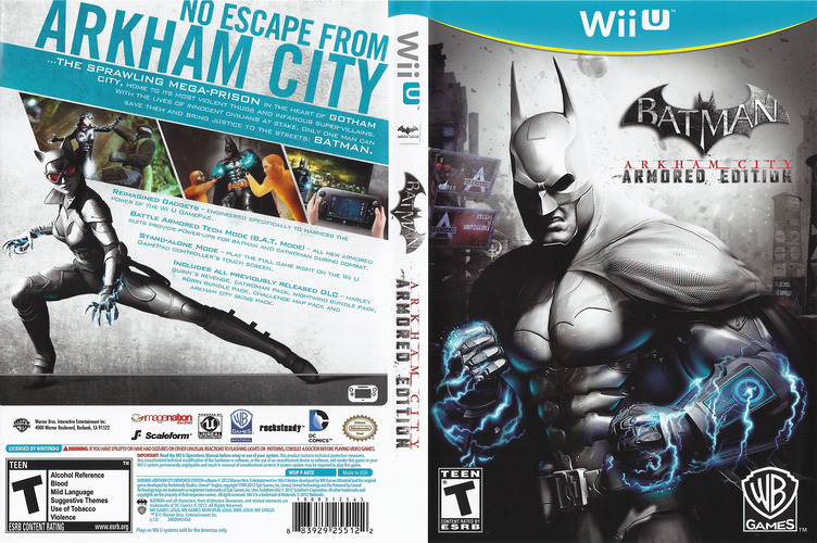 Batman Arkham City: Armored Edition WiiU coverfullM (ABTEWR)