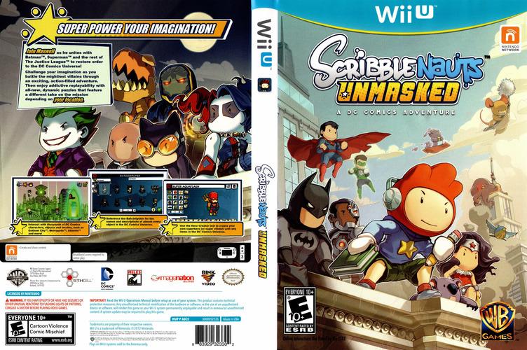 Scribblenauts Unmasked:a DC Comics Adventure WiiU coverfullM (ADCEWR)