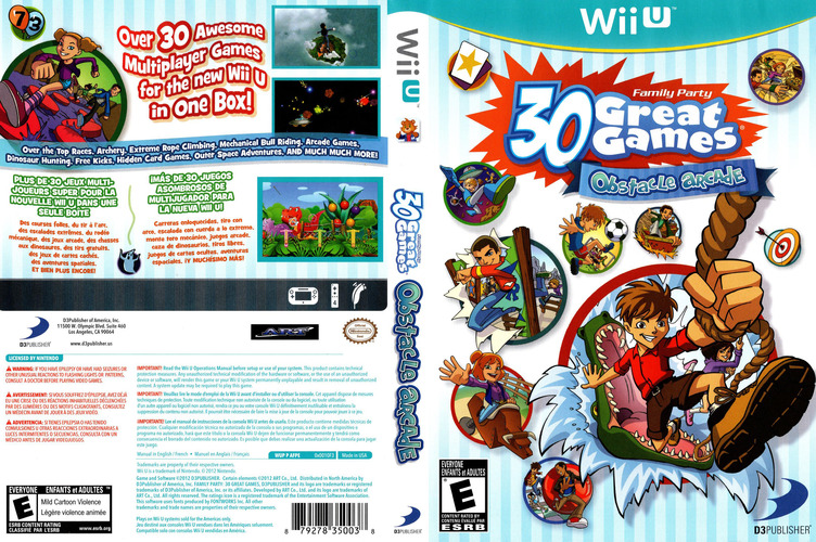 Family Party: 30 Great Games Obstacle Arcade WiiU coverfullM (AFPEG9)