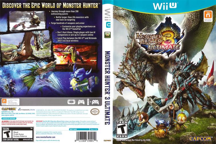 Monster Hunter 3 Ultimate WiiU coverfullM (AHDE08)