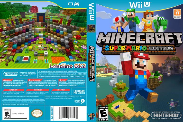 Minecraft: Super Mario Edition WiiU coverfullM (AUMED2)