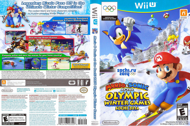 Mario & Sonic at the Sochi 2014 Olympic Winter Games WiiU coverfullM (AURE01)