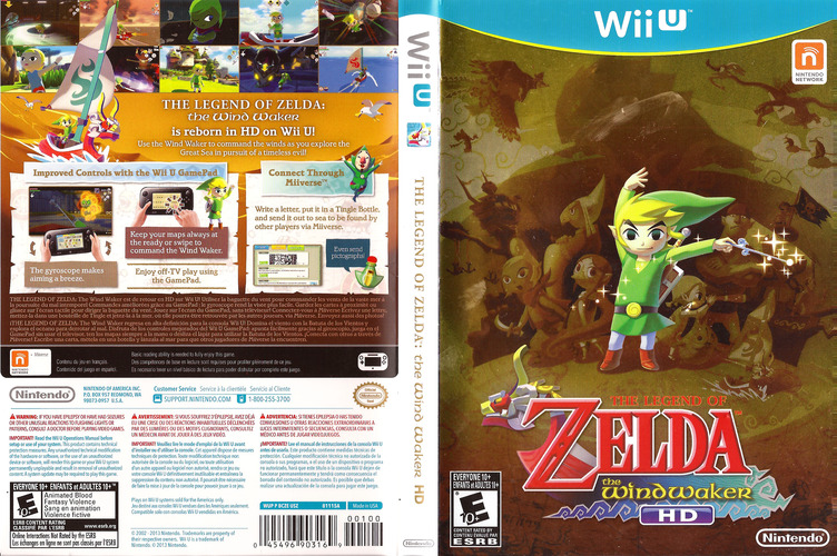 The Legend of Zelda: The Wind Waker HD WiiU coverfullM (BCZE01)