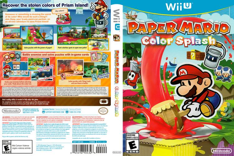 Paper Mario: Color Splash WiiU coverfullM (CNFE01)