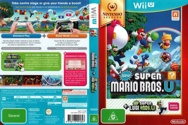 New Super Mario Bros. U + New Super Luigi U WiiU coverfullMB (ATWP01)