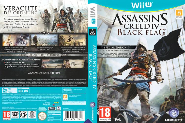 Assassin's Creed IV: Black Flag WiiU coverfullMB (ASBP41)