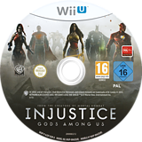 Injustice: Gods Among Us WiiU disc (AJSPWR)
