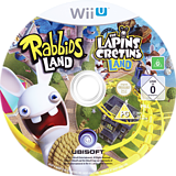 Rabbids Land WiiU disc (ARBP41)